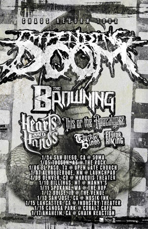 THE BROWNING kick off U.S. TOUR with IMPENDING DOOM tonight