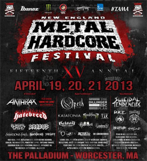 NEW ENGLAND METAL & HARDCORE FESTIVAL to celebrate 15th anniversary