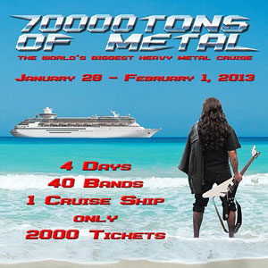 HELLOWEEN to co-headline 70,000 Tons Of Metal cruise January 28th