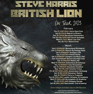 Steve Harris BRITISH LION tour dates