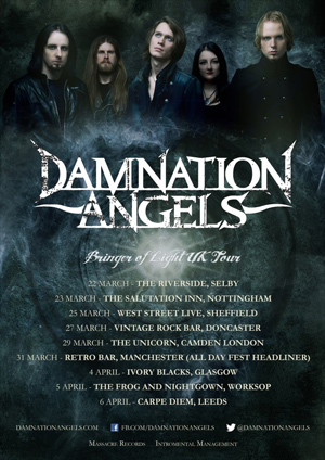 DAMNATION ANGELS sign with Massacre Records, tour dates