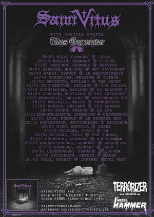 SAINT VITUS announce extensive European tour