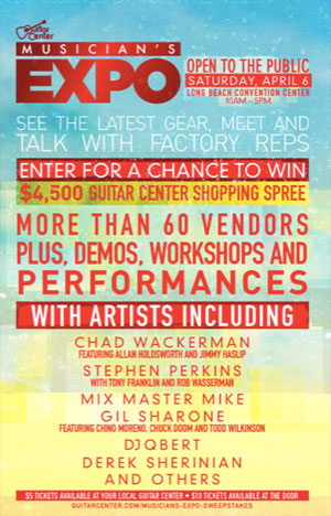 SoCal's first public Musician's Expo 4/6/2013, tickets go on sale today