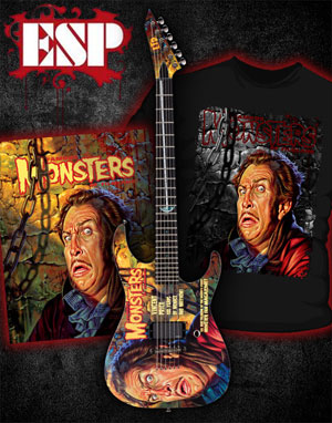VINCENT PRICE limited edition ESP guitar available, only 300 made