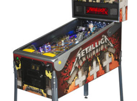 see new Metallica pinball machine at the Nuclear Blast Comic-Con booth