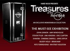 'Treasures of the Hard Rock' music memorabilia exhibit San Diego, CA