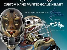 LA Kings goalie helmet customized by Greg 'Craola' Simkins