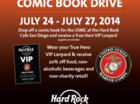 Hard Rock Cafe San Diego Extends True Hero Comic Drive For United States Marine Corps