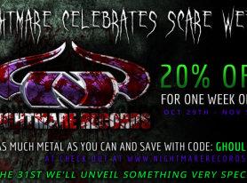 Nightmare Records Halloween Sale