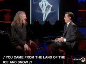 ROBERT PLANT on The Colbert Report