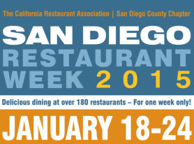 San Diego Restaurant Week Returns January 18 – 24
