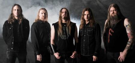 """Left to right: Herbrand Larsen, Cato Bekkevold, Grutle Kjellson, Arve """"Ice Dale"""" Isdal, and Ivar Bjørnson"""