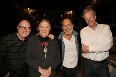Morrison Hotel Gallery owners Richard Horowitz, Henry Diltz, Timothy White and Peter Blachley - photo by Chad Adelder