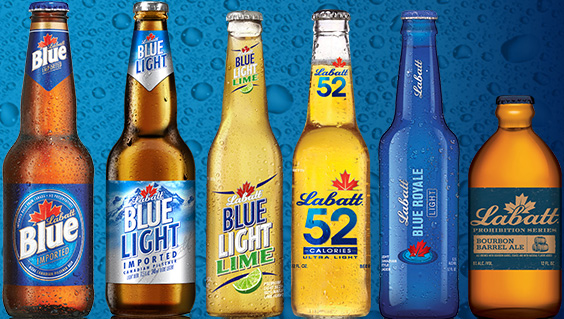 Image result for Labatt's Blue beer