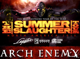 "ARCH ENEMY Announces Additional Dates For The 2015 ""Summer Slaughter Tour"""