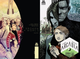 Sci-Fi Comic Books 'Arcadia' #2 and 'Broken World' #1 Go to Second Print