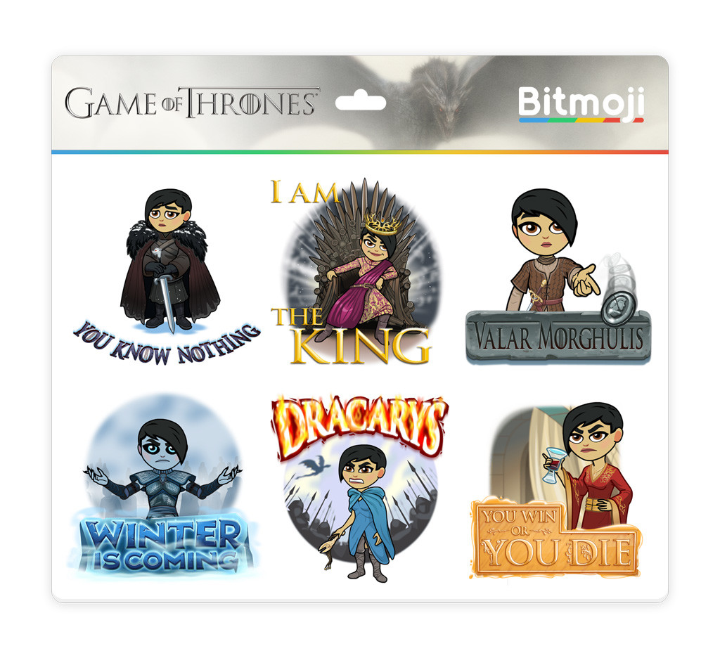 SDCC: Game of Thrones Bitmojis Are Here | Metal Life Magazine