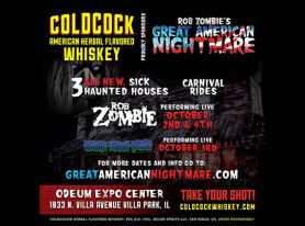 COLDCOCK WHISKEY Teams Up With ROB ZOMBIE's Great American Nightmare