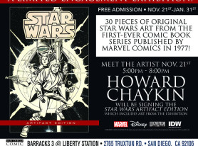 San Diego Comic Art Gallery Presents The Comic Book Art Of Star Wars