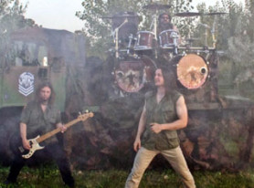 all star power metal band REVERENCE premier 'Gods Of War' music video