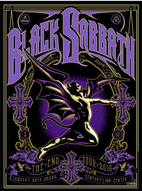 black sabbath limited edition cd available exclusively on 2016 the end world tour metal life. Black Bedroom Furniture Sets. Home Design Ideas