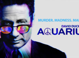 photos of David Duchovny and the cast of 'Aquarius' from screening