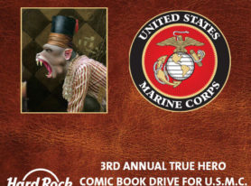 Hard Rock Cafe San Diego Hosts 3rd Annual True Hero Comic Drive For United States Marine Corps