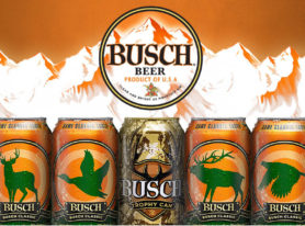Busch Launches Hunting Promotion With Gold Trophy Beer Cans, Paints Kevin Harvick's Car