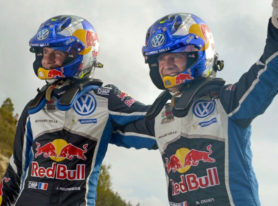 Volkswagen driver Sebastien Ogier wins fourth World Rally Championship