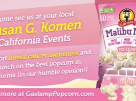 California's Gaslamp Popcorn Supports Breast Cancer Research