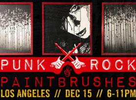Punk Rock & Paintbrushes Holiday Art Show Dec 15 Los Angeles