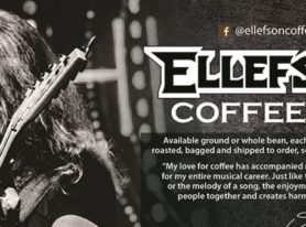 Ellefson Coffee Exhibit At NAMM, Debut Artist Signature Roasts With Skid Row, Queensryche's Michael Wilton, and Autograph